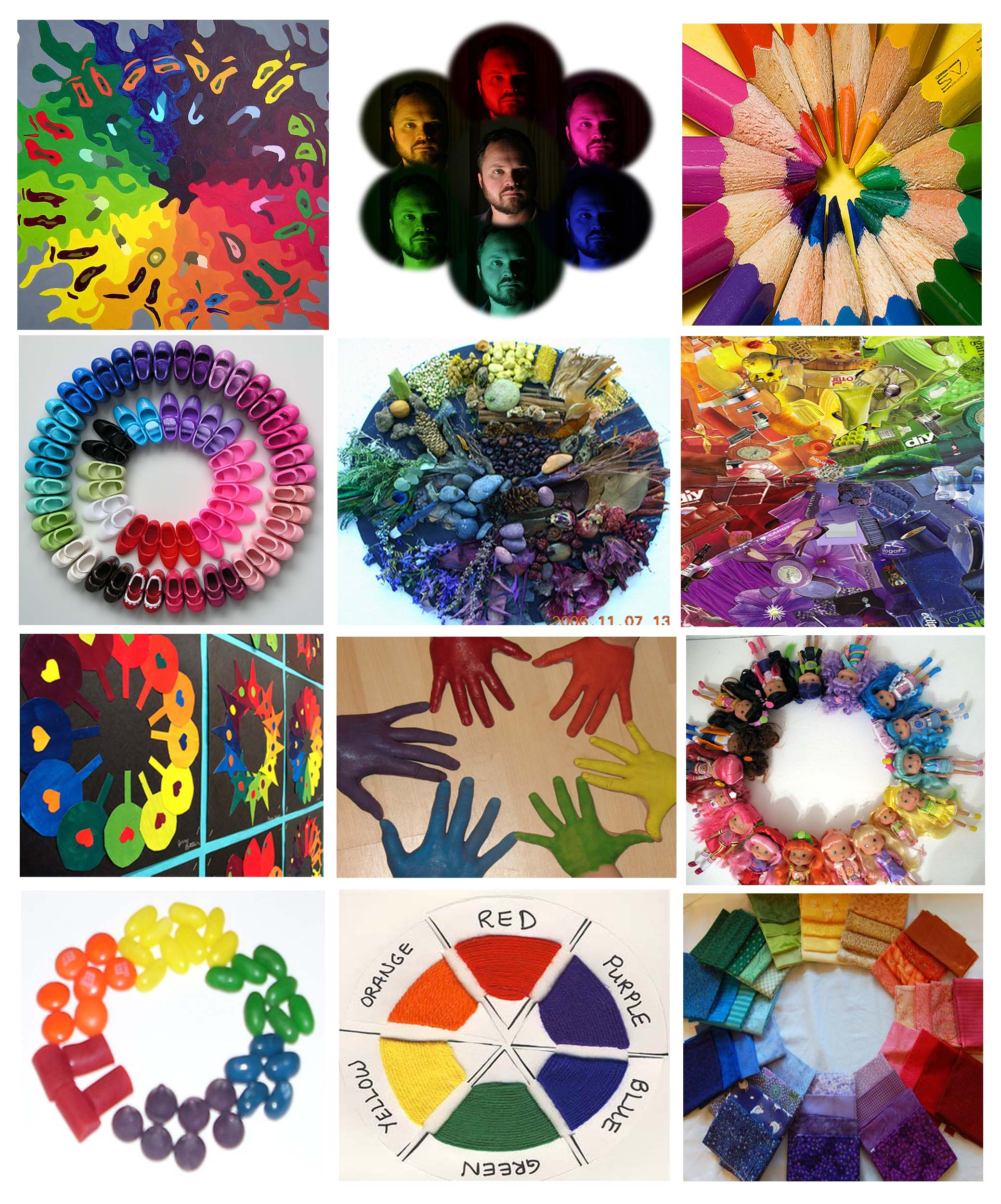 Love This Concept For A Color Wheel Very Beautiful And Well